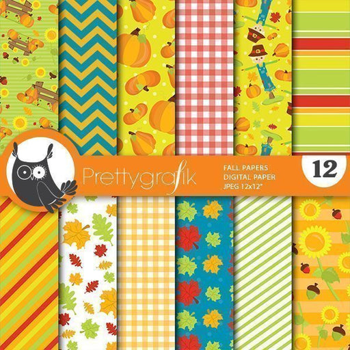 Fall harvest digital papers Digital Papers & Background Prettygrafik    Mygrafico