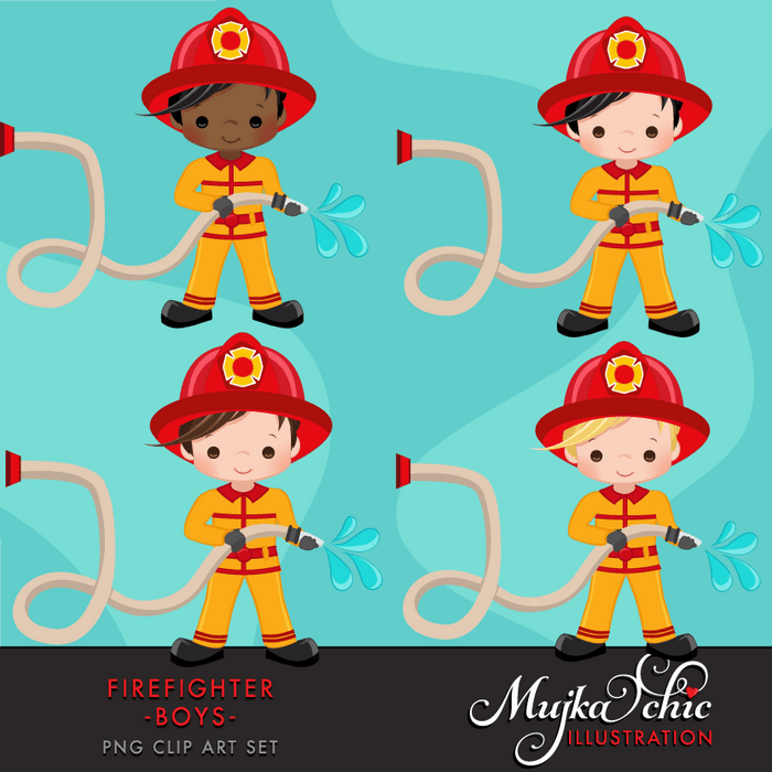 Fire fighter boys clipart  Mujka Chic    Mygrafico