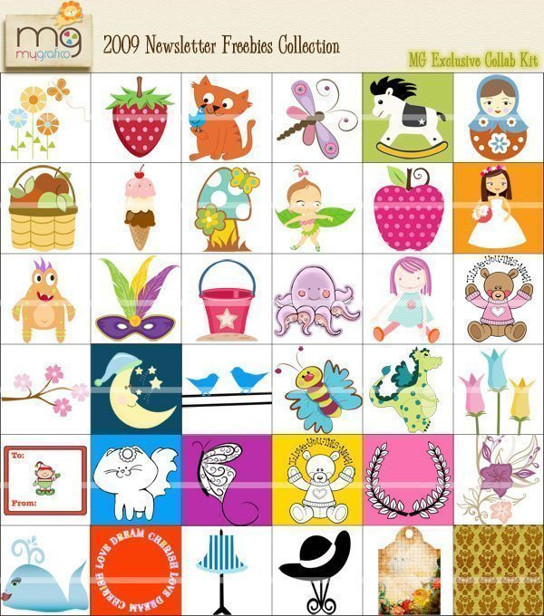 2009 Freebie Collection Cliparts Mygrafico Collaborations    Mygrafico