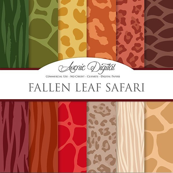Fall Animal Prints Digital Paper  Avenie Digital    Mygrafico