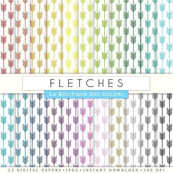 Fletches Digital Papers  La Boutique Dei Colori    Mygrafico