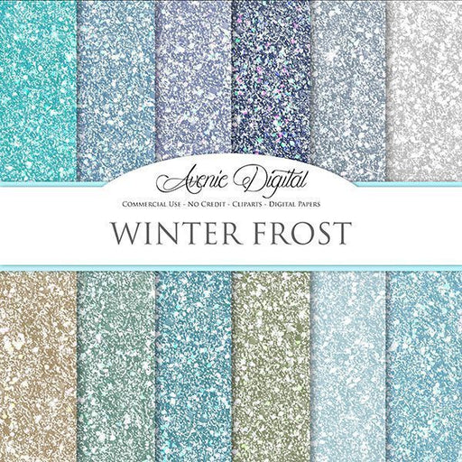 Winter Glitter Digital Paper  Avenie Digital    Mygrafico