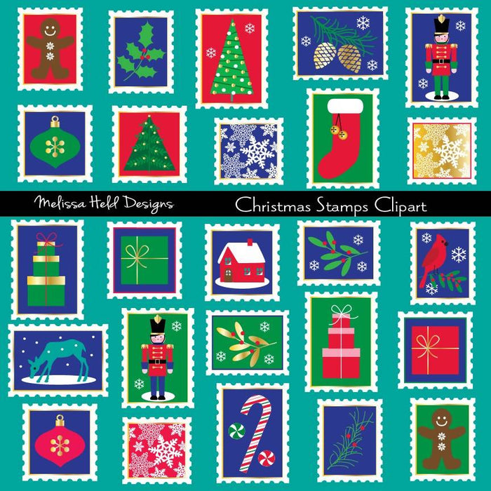 Christmas Stamps Clipart Cliparts Melissa Held Designs    Mygrafico