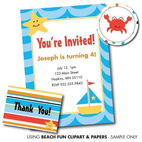 Beach Fun Papers  Goodness & Fun    Mygrafico