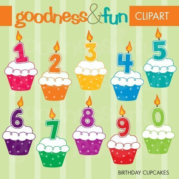 Birthday Cupcakes  Goodness & Fun    Mygrafico