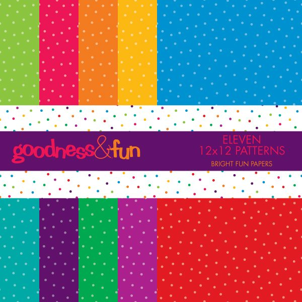 Bright Fun Papers  Goodness & Fun    Mygrafico