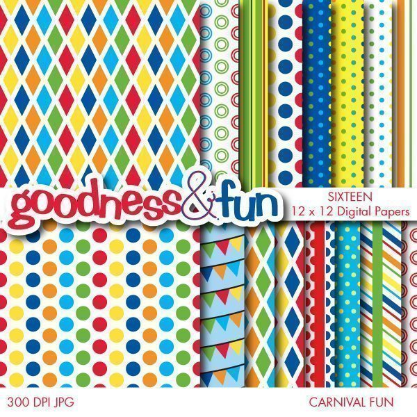 Carnival Fun Papers  Goodness & Fun    Mygrafico
