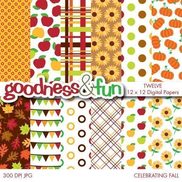 Celebrating Fall Papers  Goodness & Fun    Mygrafico