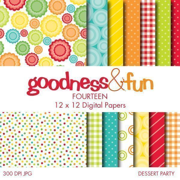 Dessert Party Papers  Goodness & Fun    Mygrafico