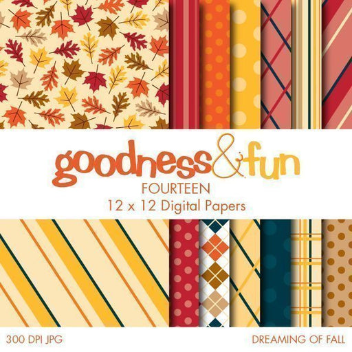 Dreaming of Fall Papers  Goodness & Fun    Mygrafico