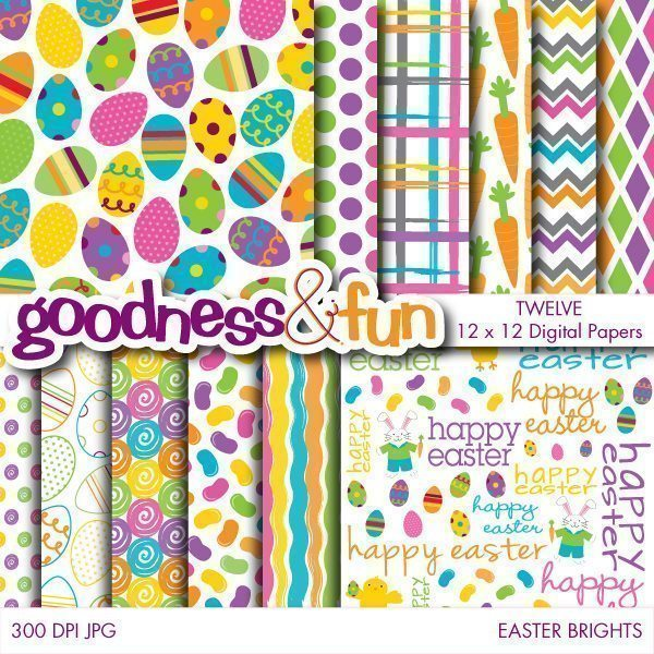Easter Brights Papers  Goodness & Fun    Mygrafico