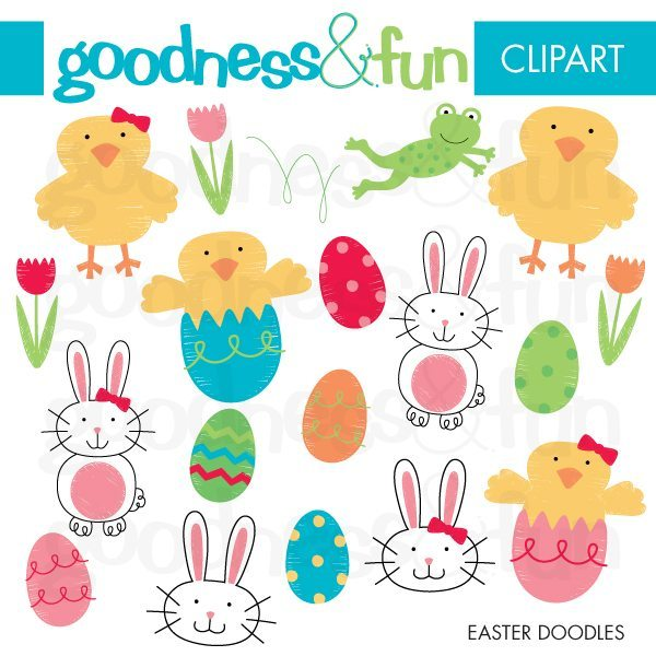 Easter Doodles  Goodness & Fun    Mygrafico