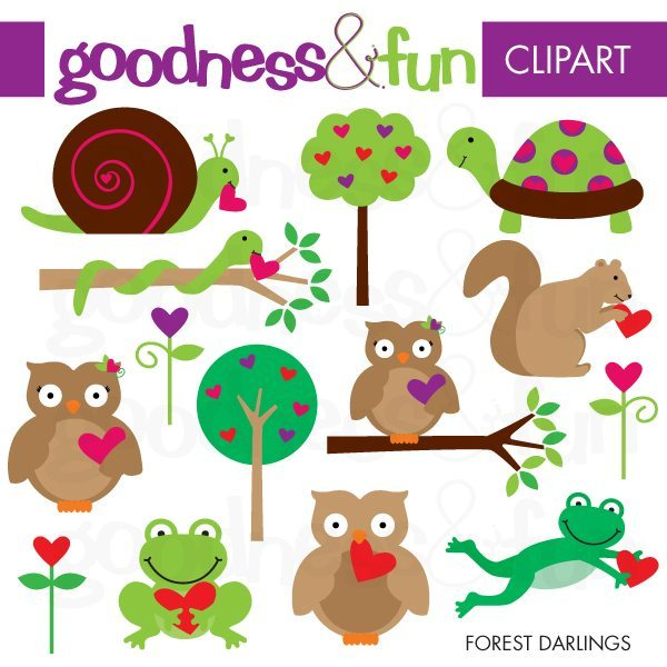 Forest Darlings Animal Clipart  Goodness & Fun    Mygrafico