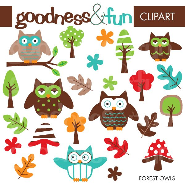 Forest Owls  Goodness & Fun    Mygrafico