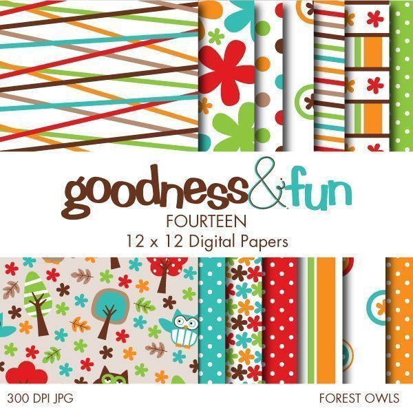 Forest Owls Papers  Goodness & Fun    Mygrafico