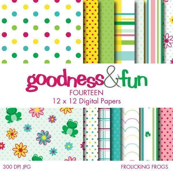 Frolicking Frogs Papers  Goodness & Fun    Mygrafico
