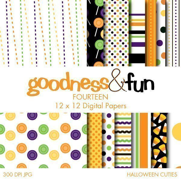 Halloween Cuties Papers  Goodness & Fun    Mygrafico