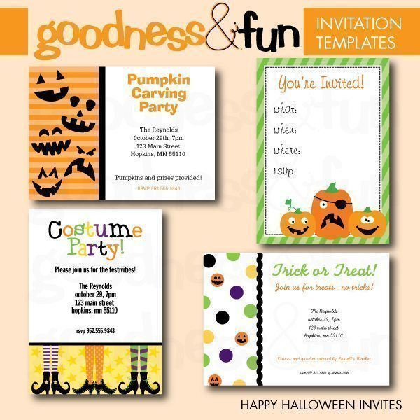 Happy Halloween Invite Templates  Goodness & Fun    Mygrafico