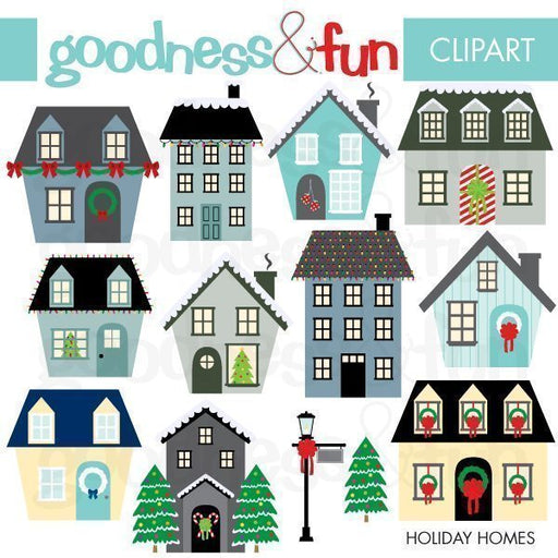 Holiday Homes Clipart Cliparts Goodness & Fun    Mygrafico