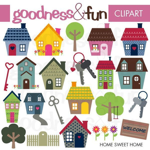 Home Sweet Home Clipart Goodness & Fun    Mygrafico