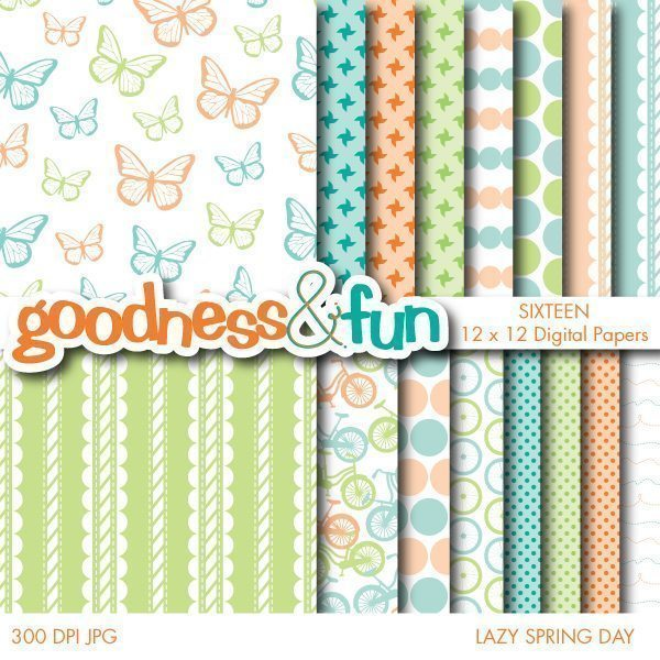 Lazy Spring Day Papers  Goodness & Fun    Mygrafico