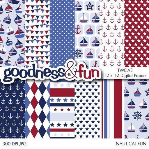Nautical Fun Papers  Goodness & Fun    Mygrafico