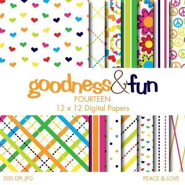 Peace & Love Papers  Goodness & Fun    Mygrafico