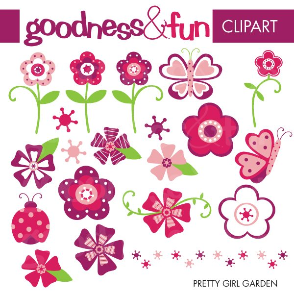 Pretty Girl Garden  Goodness & Fun    Mygrafico