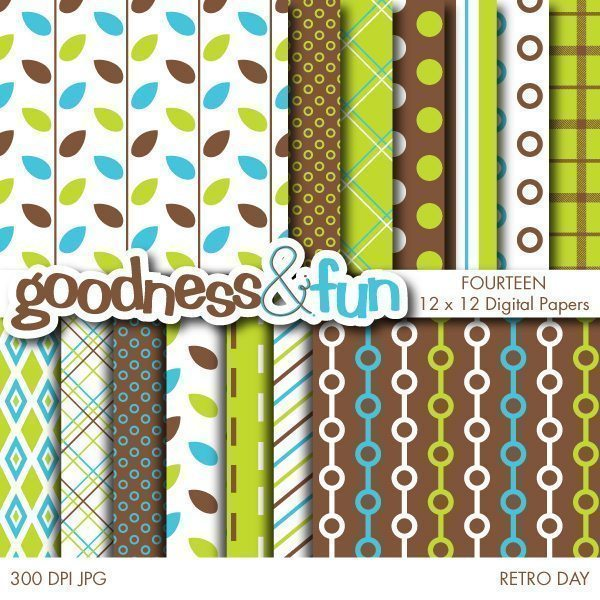 Retro Day Papers  Goodness & Fun    Mygrafico