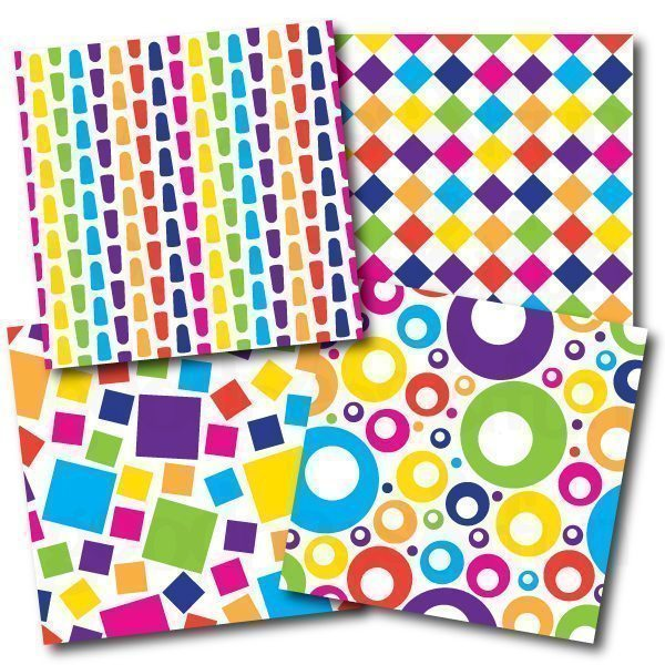 Shapes & Colors Papers  Goodness & Fun    Mygrafico