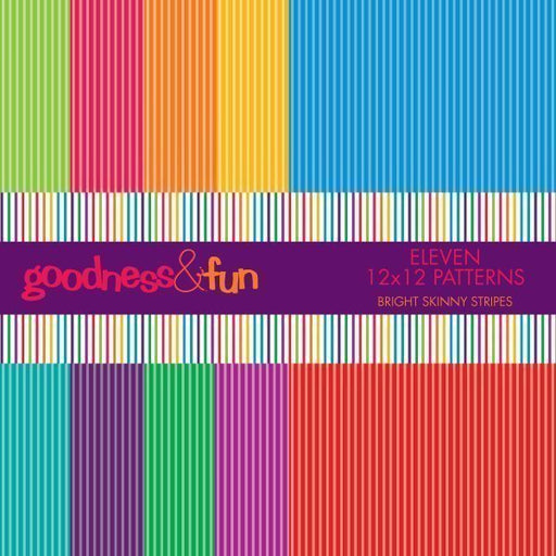 Bright Skinny Stripe Papers  Goodness & Fun    Mygrafico