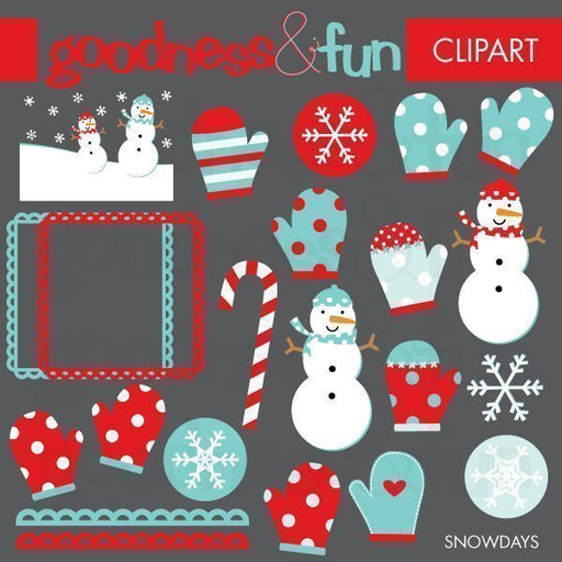 Snow Days Clipart  Goodness & Fun    Mygrafico
