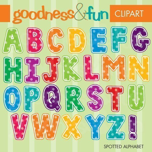 Spotted Alphabet  Goodness & Fun    Mygrafico