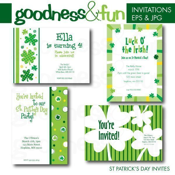 St Patrick's Day Invites  Goodness & Fun    Mygrafico
