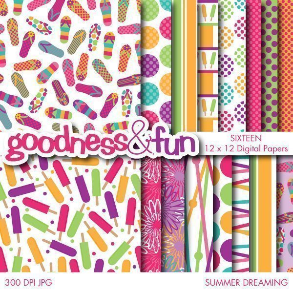Summer Dreaming Papers  Goodness & Fun    Mygrafico