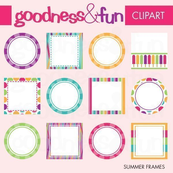 Summer Frames  Goodness & Fun    Mygrafico