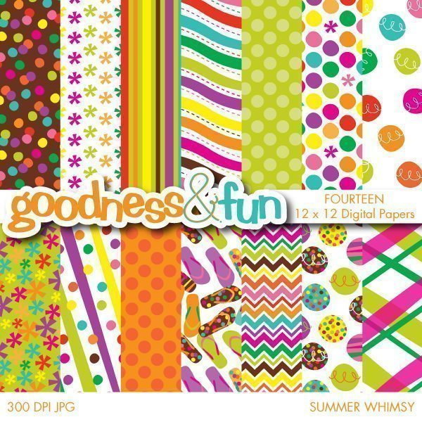 Summer Whimsy Papers  Goodness & Fun    Mygrafico
