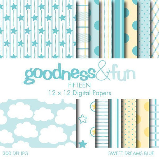 Sweet Dreams Blue Papers  Goodness & Fun    Mygrafico