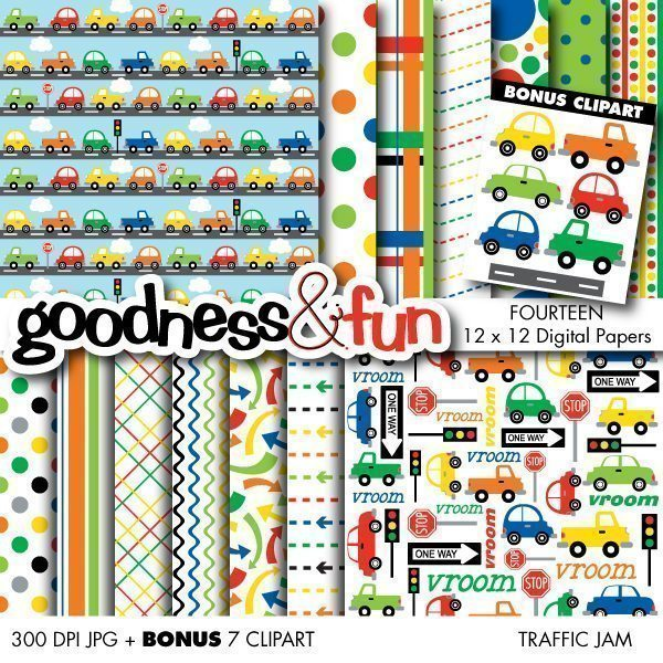 Traffic Jam Papers  Goodness & Fun    Mygrafico