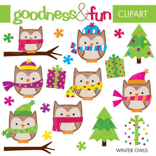 Winter Owls  Goodness & Fun    Mygrafico