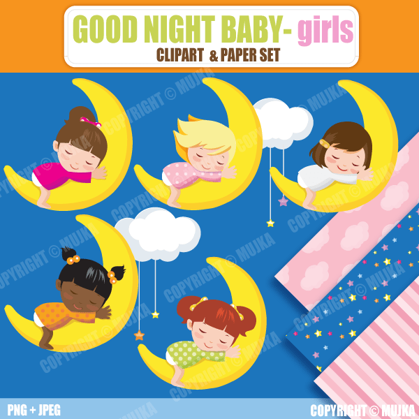 Goodnight Baby Girls  Mujka Chic    Mygrafico