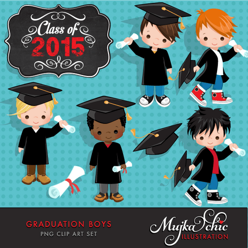 Little Boys Graduation Clipart  Mujka Chic    Mygrafico