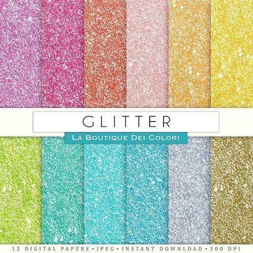 Glitter Digital Papers  La Boutique Dei Colori    Mygrafico
