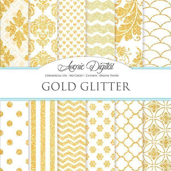 Gold White Digital Paper  Avenie Digital    Mygrafico