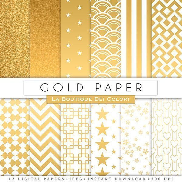 Gold Digital Papers  La Boutique Dei Colori    Mygrafico