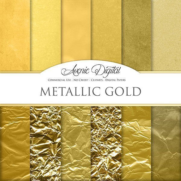 Gold Foil Digital Paper  Avenie Digital    Mygrafico