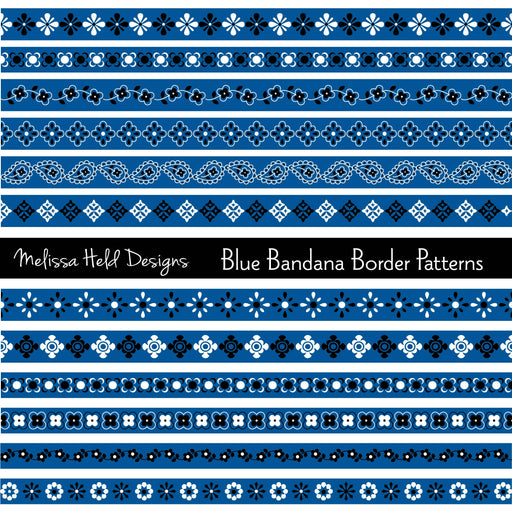 Blue Bandana Border Patterns Cliparts Melissa Held Designs    Mygrafico