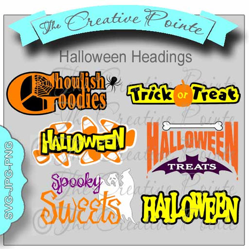 Halloween Headings Clipart The Creative Pointe    Mygrafico