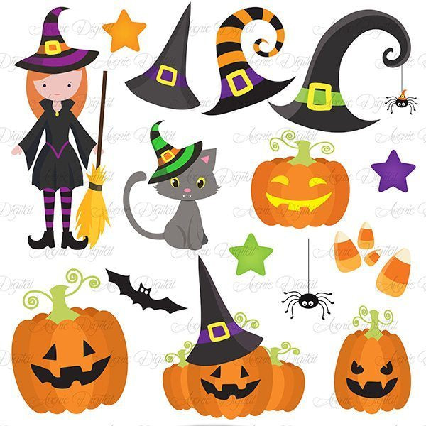 Cute Halloween Cliparts  Avenie Digital    Mygrafico