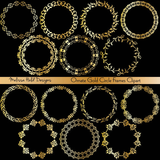 Ornate Gold Circle Frames Clipart Cliparts Melissa Held Designs    Mygrafico